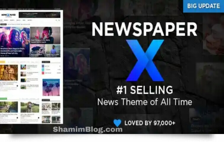 newspaper x,wadpress theme